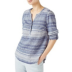 Dash - Variated stripe linen blouse