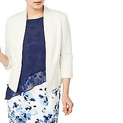 Jacques Vert - Light cream circle texture jacket