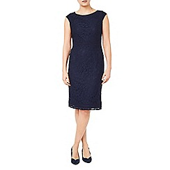 Jacques Vert - Navy lace fitted dress