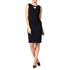 Jacques Vert - Peplum Twill Textured Dress
