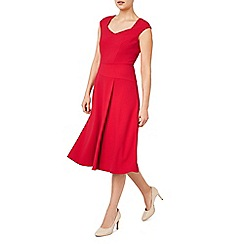 Jacques Vert - Red flared crepe dress