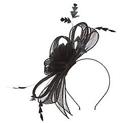 Precis - Black black feather fascinator