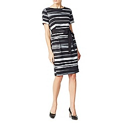 Jacques Vert - Textured Stripe Tie Wrap Dress