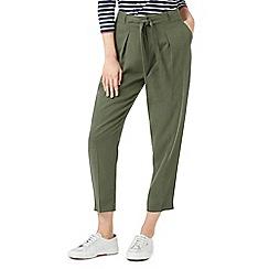 Dash - Khaki tie waist trousers