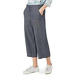 Dash - Blue denim look culottes