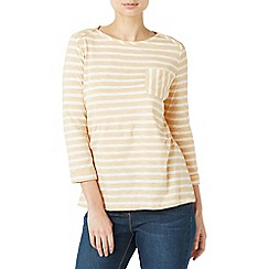 Dash - Multicoloured stripe almond jersey top