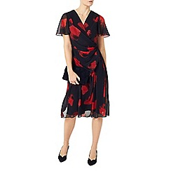 Jacques Vert - Poppy print soft  dress