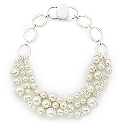 Jacques Vert - Three Row Pearl Necklace