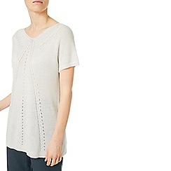 Eastex - Pointelle relaxed jumper