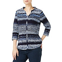 Dash - Mid blue porcelain stripe jersey top