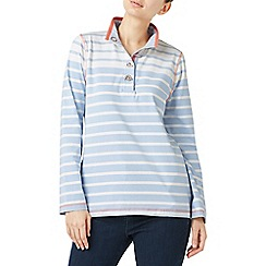 Dash - Peach & blue stripe funnel top