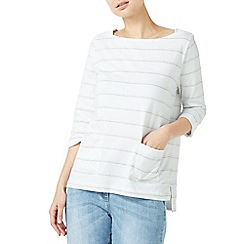 Dash - Multicoloured patch pocket stripe top