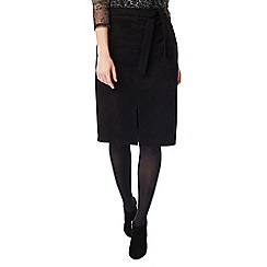 Precis - Black Suedette Skirt