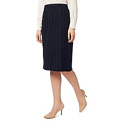 Eastex - Self stripe pencil skirt