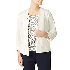 Eastex - Ivory edge to edge ponte jacket