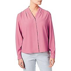 Eastex - Long sleeve drape neck blouse