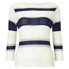 Precis - Stripe tape yarn jumper