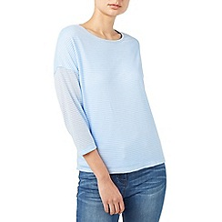 Dash - Light blue knitted stripe top