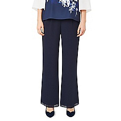 Jacques Vert - Navy chiffon straight trousers