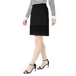 Precis - Black tazmin texture lace skirt