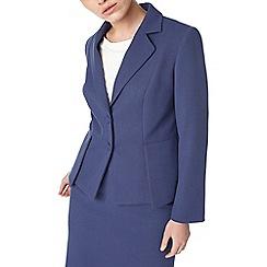 Precis - Navy eliza peplum tailored jacket
