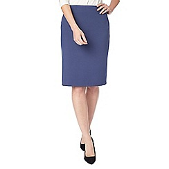 Precis - Navy eliza tailored pencil skirt