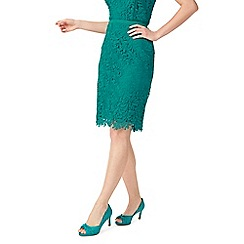 Jacques Vert - Petite leaf lace skirt