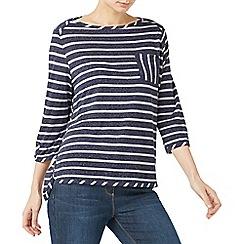Dash - Linen mix pocket stripe t-shirt