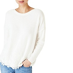 Dash - White lace knit jumper