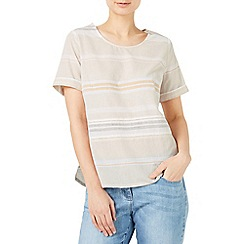 Dash - Linen stripe shell blouse