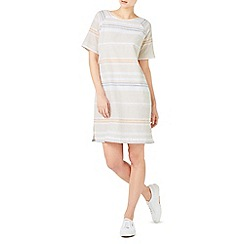 Dash - Stripe linen shift dress