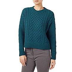 Dash - Teal Cable Knit Jumper