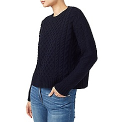 Dash - Navy Cable Knit Jumper