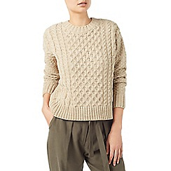 Dash - Neutral Cable Knit Jumper