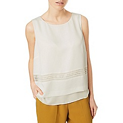 Eastex - Sleeveless trim detail blouse