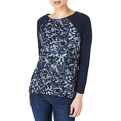 Dash - Broken floral woven mix top