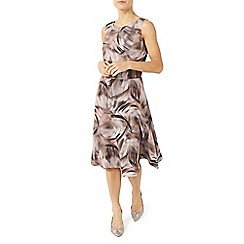 Jacques Vert - Petite printed flared dress
