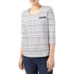 Dash - Voyager stripe jersey top