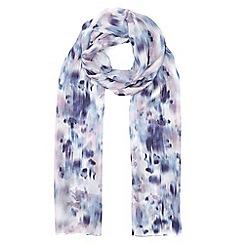 Eastex - Reflective bloom silk scarf