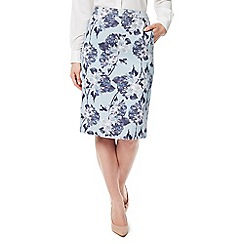 Eastex - Printed textured skirt