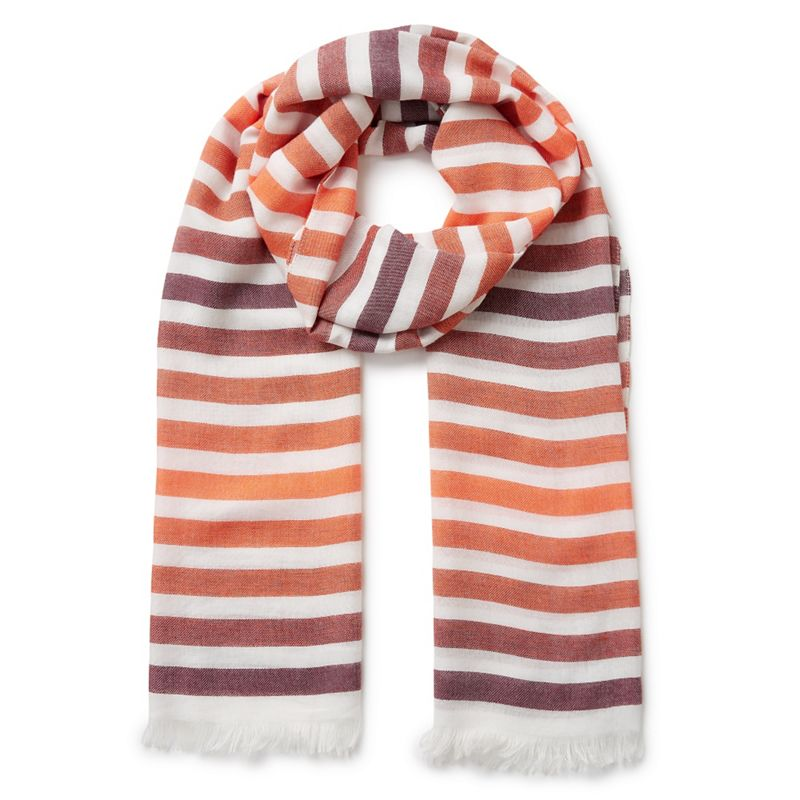 Eastex Graduated stripe scarf