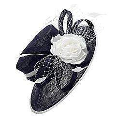 Jacques Vert - Mid blue contrast flower hat