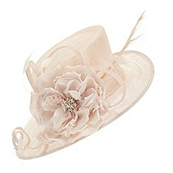Jacques Vert - Beige large silk flower hat