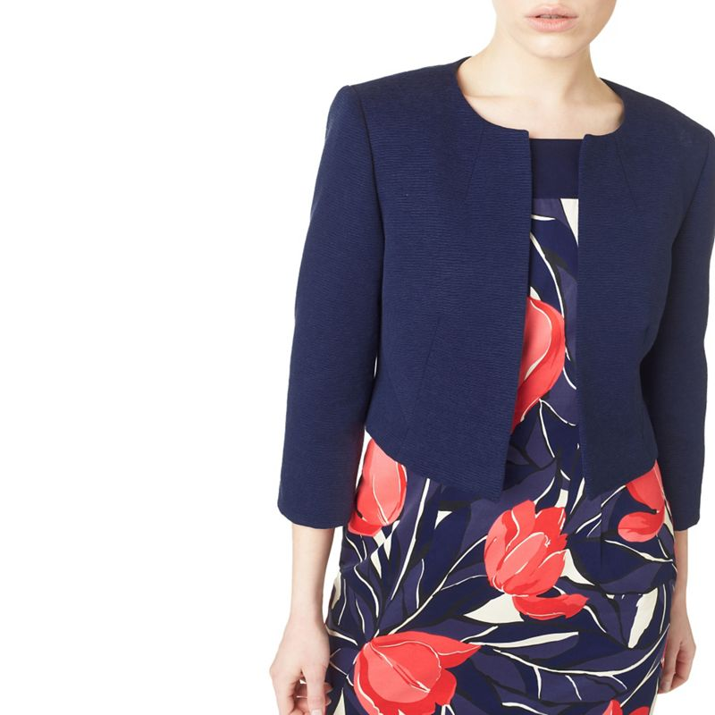 Precis Navy (Blue) samantha Textured Jacket, Womens, Size: