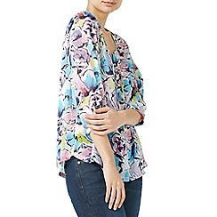 Dash - Multicoloured abstract bloom blouse