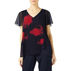 Jacques Vert - Poppy print placement tunic