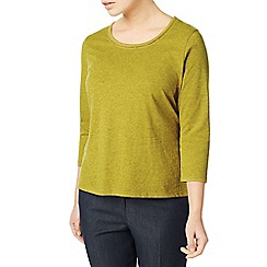 Eastex - Green trim detail jersey top