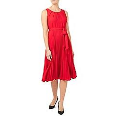 Jacques Vert - Plisse lace insert dress