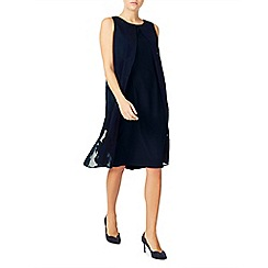Jacques Vert - Burnout drape dress