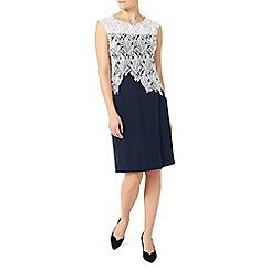 Jacques Vert - Leaf lace crepe dress
